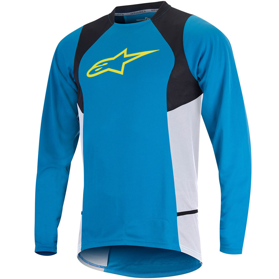 Men Alpinestar Drop 2 L/S Jersey Blue Yellow