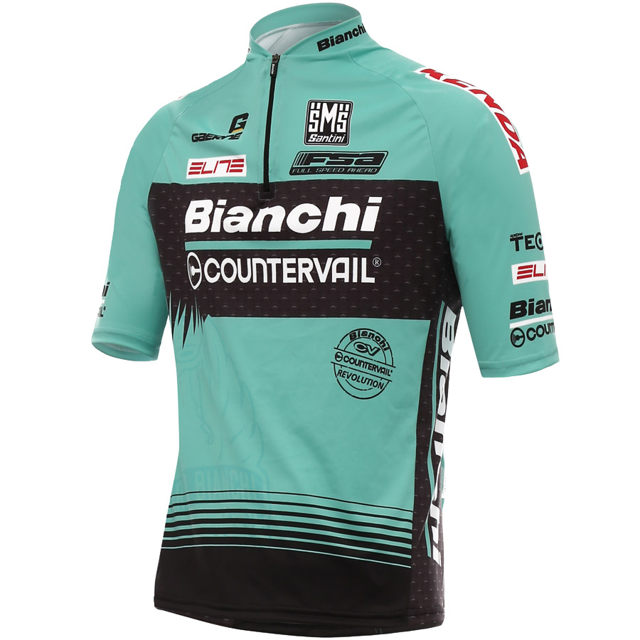 2017 Bianchi Countervail MTB Jersey Blu