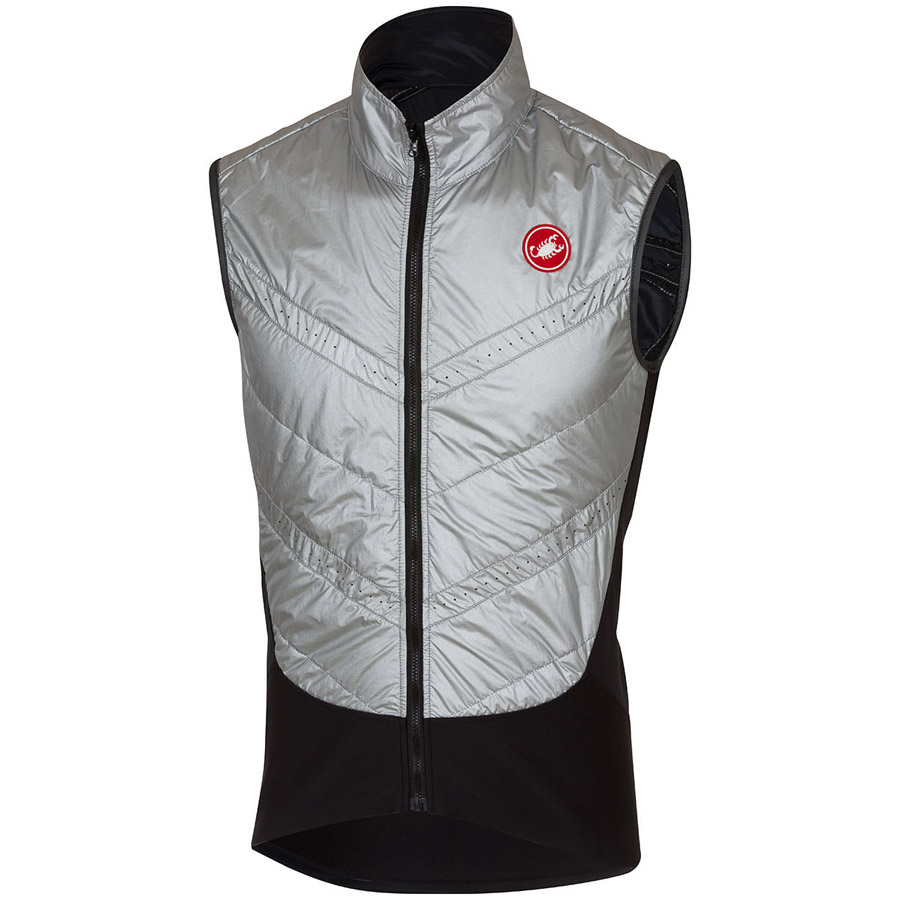 Men Castelli Core Warmer Vest Silver