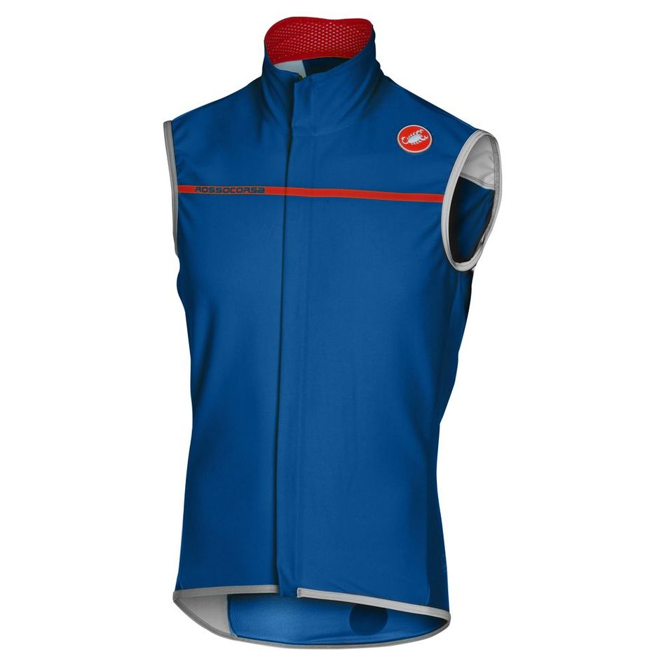 2017 Castelli Perfetto Gilet Blue Men