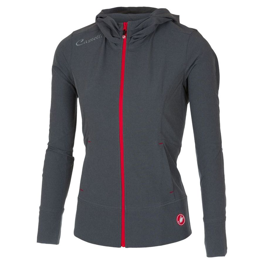 Women Castelli Race Day Track Jacket Anthracite