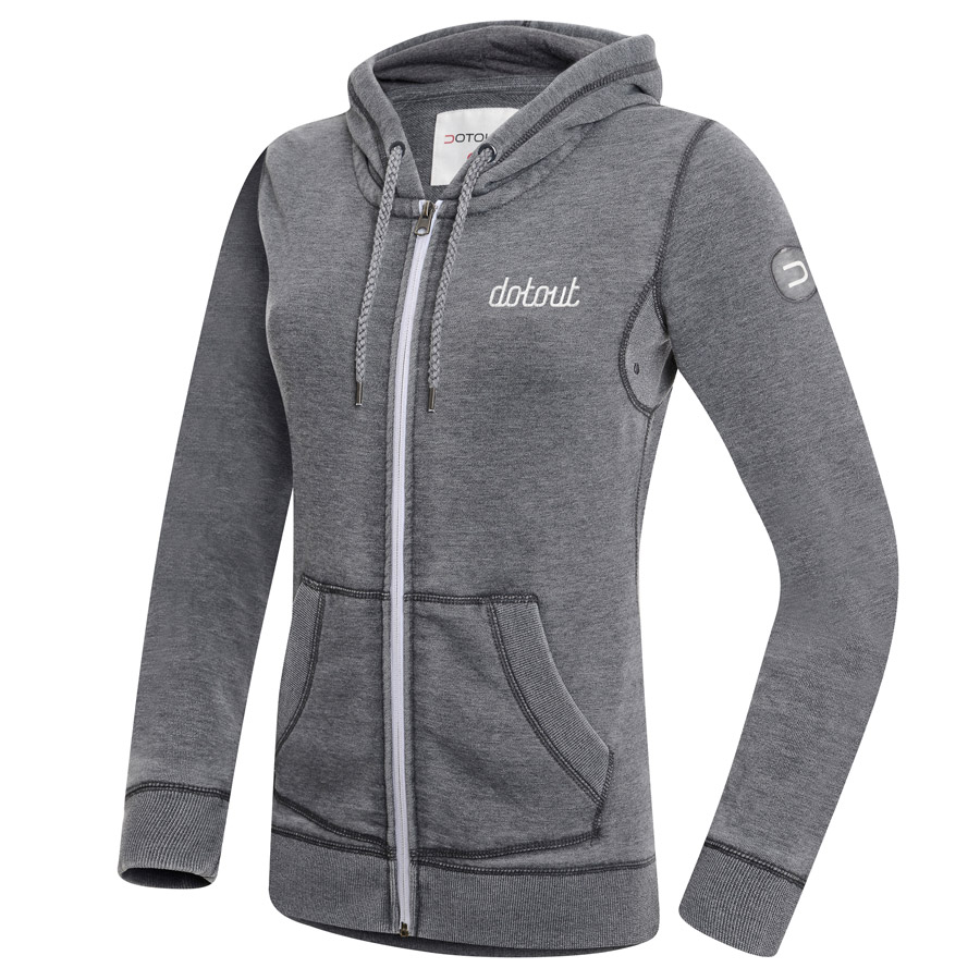 Women Dotout Podium Track Jacket Grey