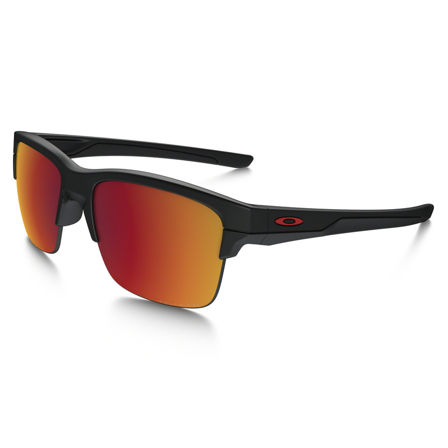 Oakley Thinlink Sunglasses Matte Black Torch Iridium Polarized