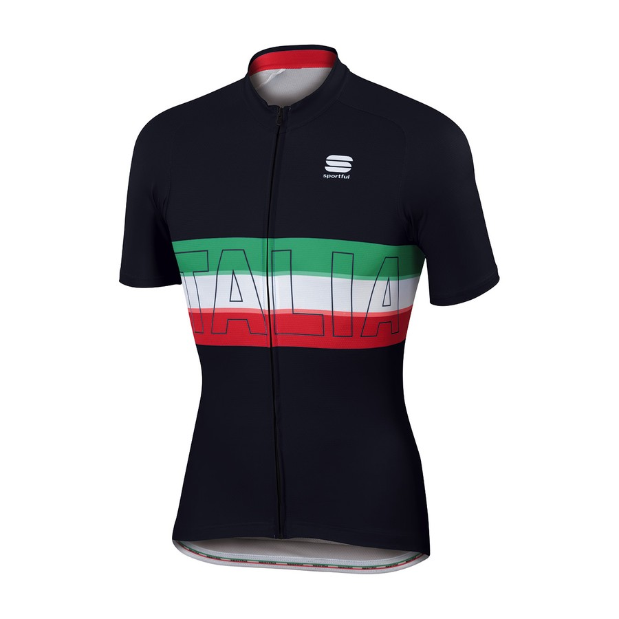 2017 Sportful jersey Italia Black Men