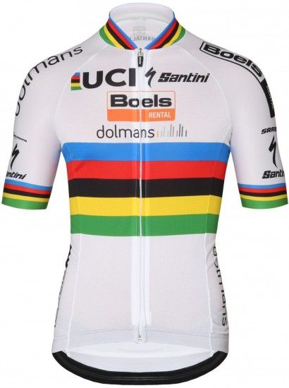 2018 Boels Dolmans Road World Champion Short Sleeve Cycling Jersey