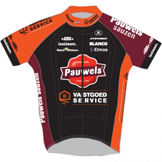 2019 Pauwels Sauzen - Vastgoedservice Short Sleeve Cycling Jersey (Long Zip)